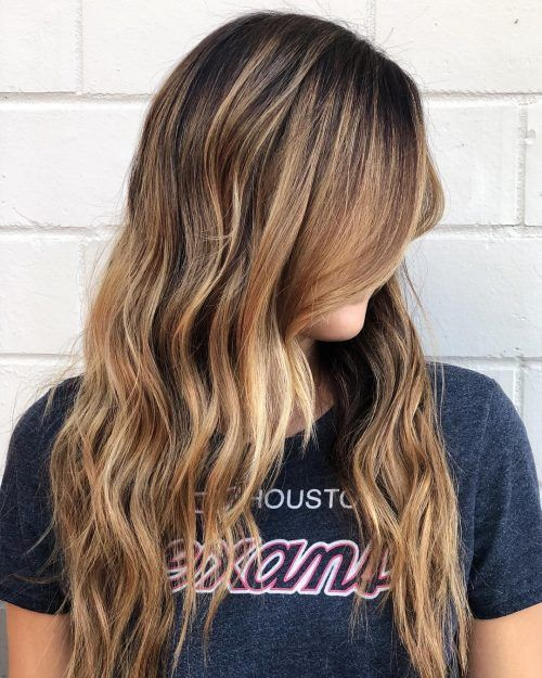 21 Stunning Examples Of Caramel Balayage Highlights For 2020 Butterscotch Hair Color Short Hair Balayage Black Hair Balayage