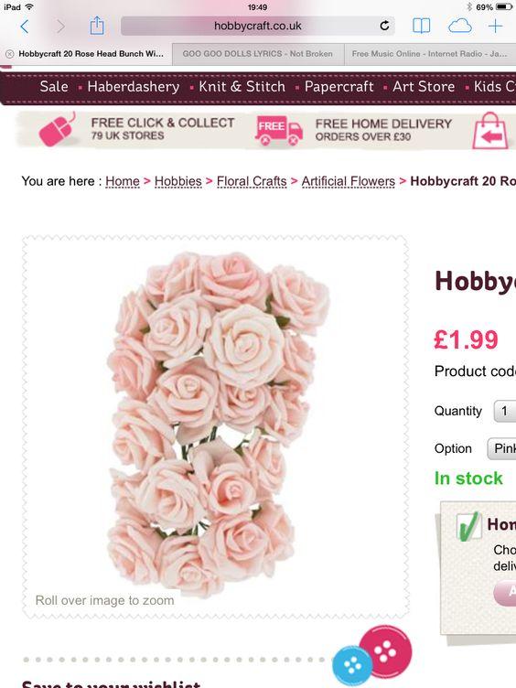 Foam roses hobbycraft