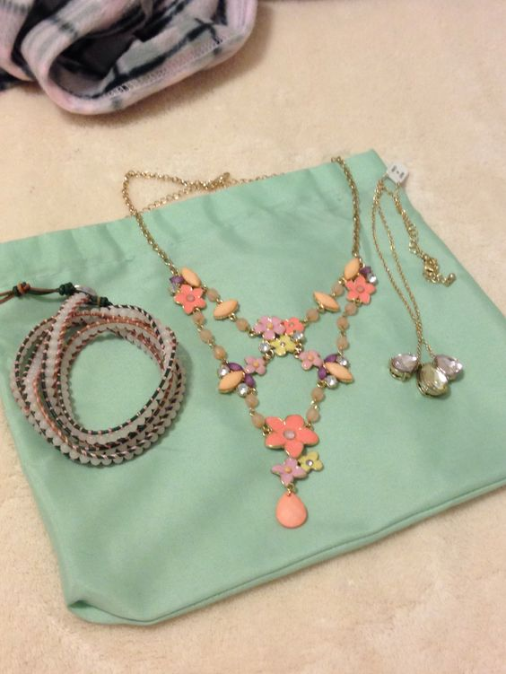 RR floral necklace, Bindy bracelet and ATR teardrop necklace.  $15 each or $35 for all 3