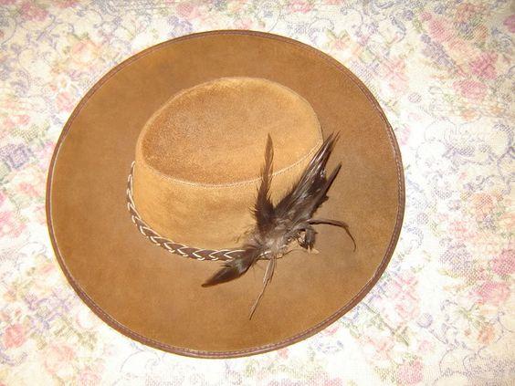 Mens Suede San Zeno Leather Handmade Cowboy Hat Large