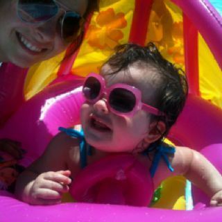 Fun in the sun with mommy!