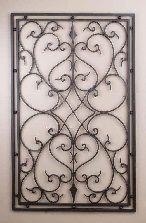 Wrought Iron Wall Decor Awesome Wrought Iron Metal Rectangle Wall Decor Grill Grille 30x48 In 2020 Iron Wall Art Wrought Iron Wall Art Wrought Iron Wall Decor
