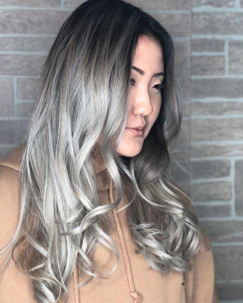 38 Silver Hair Color Ideas 2021 S Hottest Grey Hair Trend Silver Hair Color Hair Color Asian Grey Hair Color