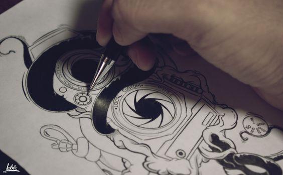 #Iliustration #Drawing #sketch #Ilustración #Creativo #Diseño Boceto Camara256