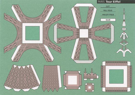 Make city paris tour eiffel cut out postcard by shook photos via flickr - Comment construire une tour eiffel en carton ...