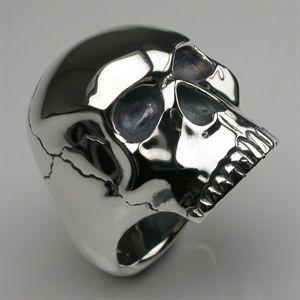Skull Ring in Sterling Silver - Mens and Womens Rings - Designer Jewellery by Stephen Einhorn London