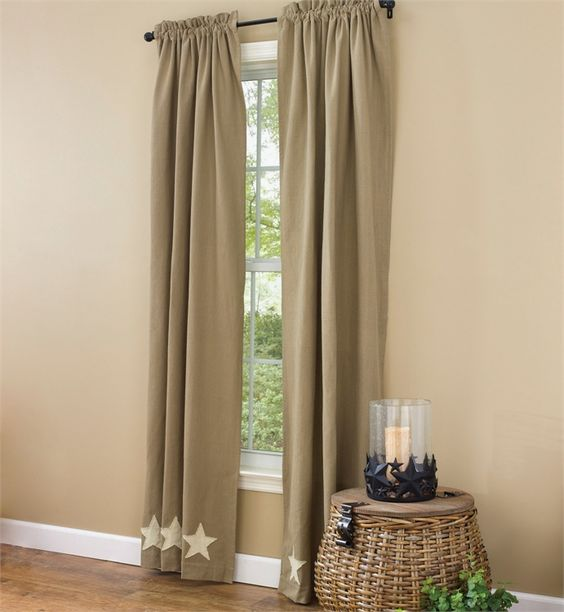Taupe & Star Lined Panels --84 In | Parks, Taupe and Curtains