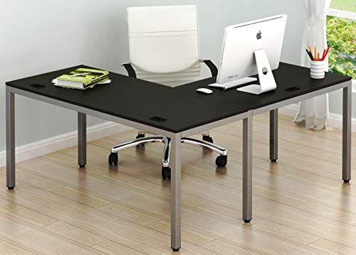 Shw Home Office 55 L Shaped Corner Desk Home Office Furniture Kitchen Floor Plans