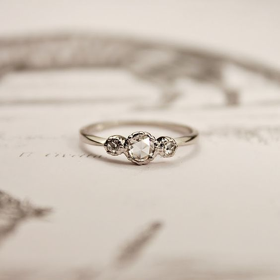 This is the kind of engagement ring I want Simple elegant and will fit over
