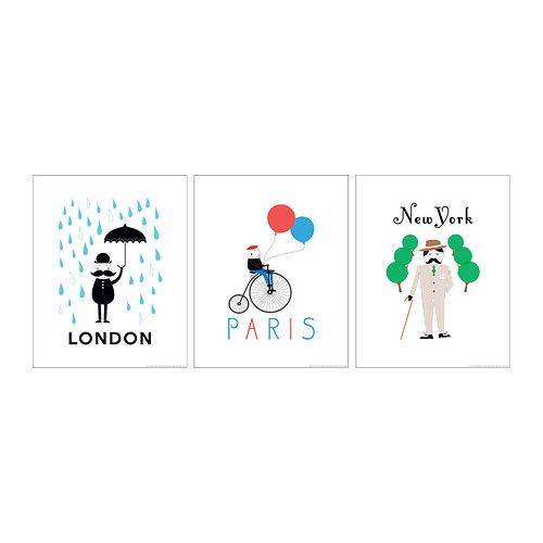 Trilling poster set of 3 ikea ikea pinterest new for Ikea bild london