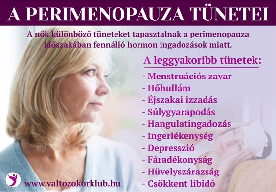 A perimenopauza tünetei