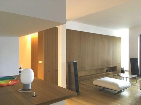 Mueble de salón de madera /  Los elegantes años 50 #hogarhabitissimo