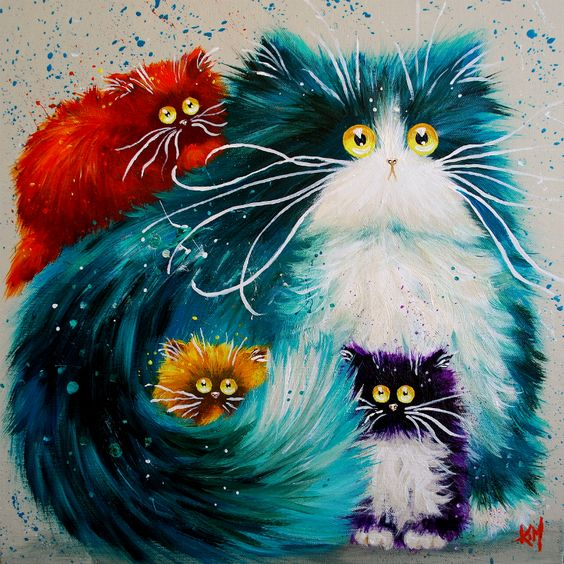 Image result for cute whimsical cats