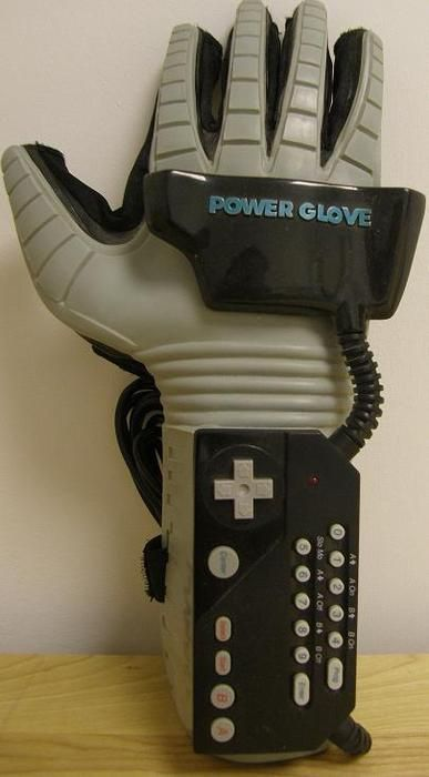 NES Power Glove... that's right Nintendo took old tech made it prettier and added better graphics and called it the Wii. No really it worked almost the same, sensor bar and everything. games weren't made FOR it though.