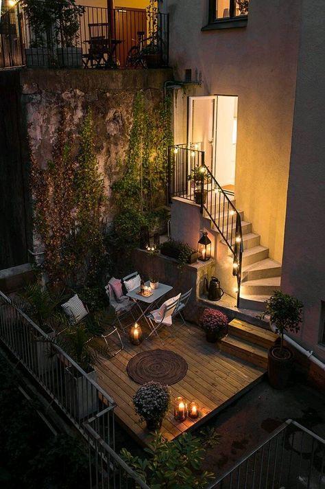 Step down patio