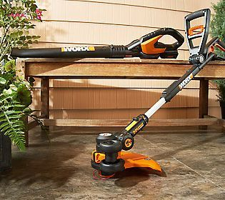Sometimes it is the tools that make the man...or the woman... in the garden.  :-)  Worx Cordless Trimmer, Edger and Mini Mower Tool w/ Blower.