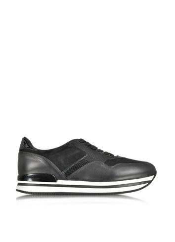 Hogan - Sneaker aus schwarzem Leder und Wildleder