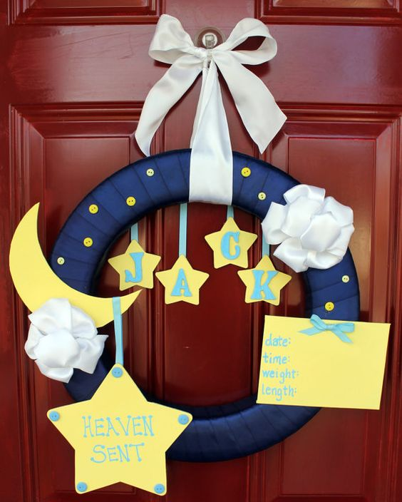 Precious Wreath For The Hospital Welcoming New Baby