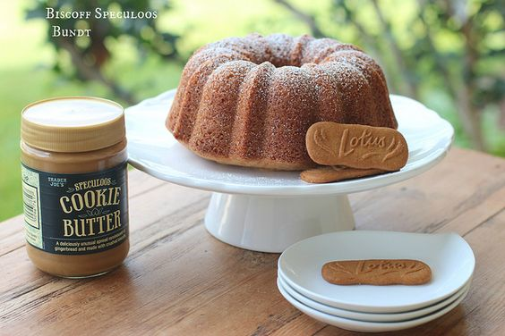 Biscoff Speculoos Cookie Butter Bundt --Friend made this cake, and I have been dreaming of it since. Hers had a dark chocolate icing, so I need to get that recipe, too!