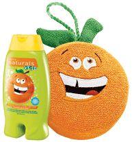 NATURALS KIDS Outgoing Orange Body Wash & Bubble Bath with matching Sponge! Regularly $6.99, buy Avon Naturals online at http://eseagren.avonrepresentative.com
