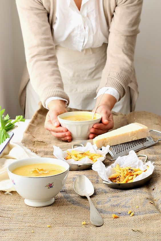 Celery Parmesan & Potato Soup: By Smile Beauty & More