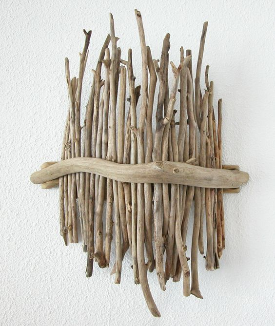 Applique en bois flotté par Benoit Galloudec -  http://www.caracterenaturel.com