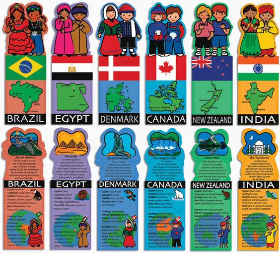 Kids Around the World Flashcards - Package of 28