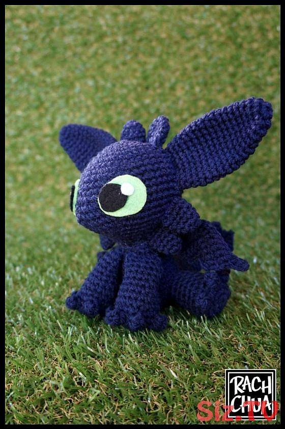 Toothless amigurumi pattern | Crochet toothless, Crochet patterns ... | 842x560