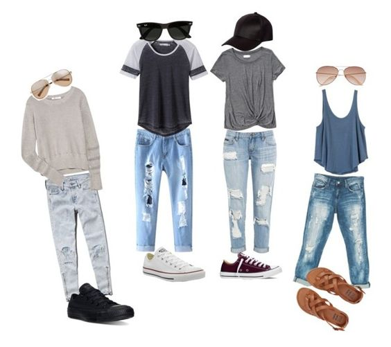 """Untitled #110"" by melinda-elizabeth on Polyvore featuring Sans Souci, Abercrombie & Fitch, Billabong, Converse, RVCA, prAna, T By Alexander Wang, River Island, H&M and Ray-Ban"