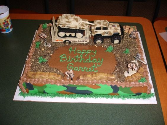 Camo army birthday cake Army Party Theme Pinterest