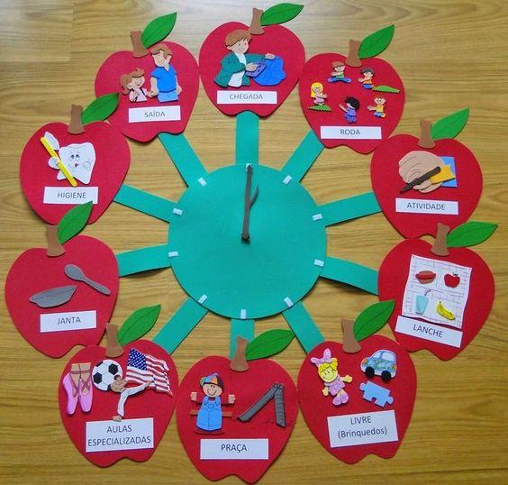 Educar a nuestro espacio panel de rutina sugerencia eva for Decoracion jardin infantes