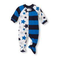 Long Sleeve Stars & Stripes Blanket Sleeper
