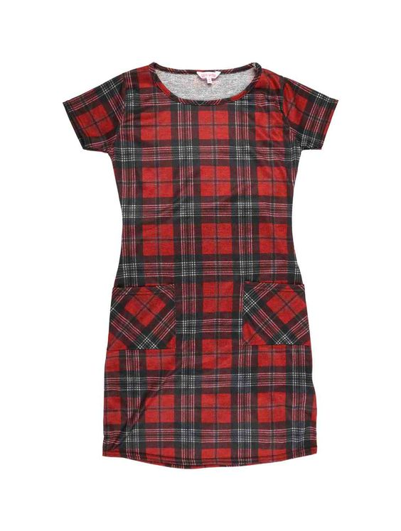 Older Girls Tartan Shift Dress | Peacocks £8