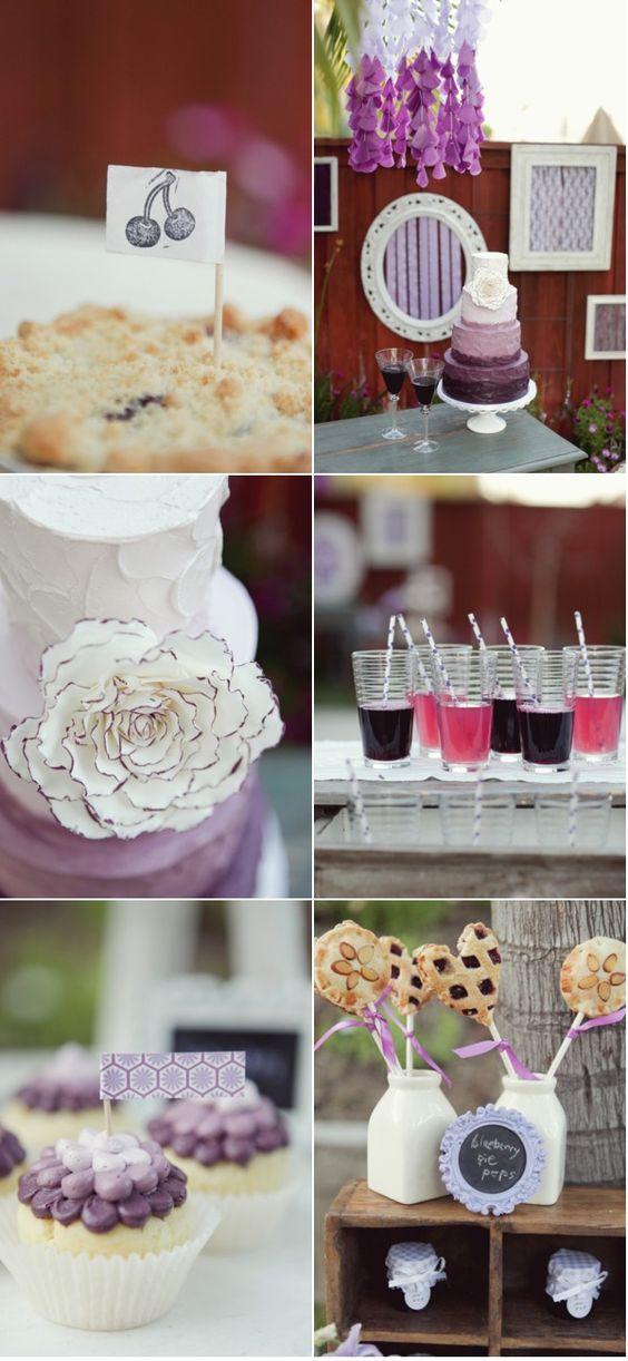 purple vintage ombre inspired photo wedding photo shoot -- love!
