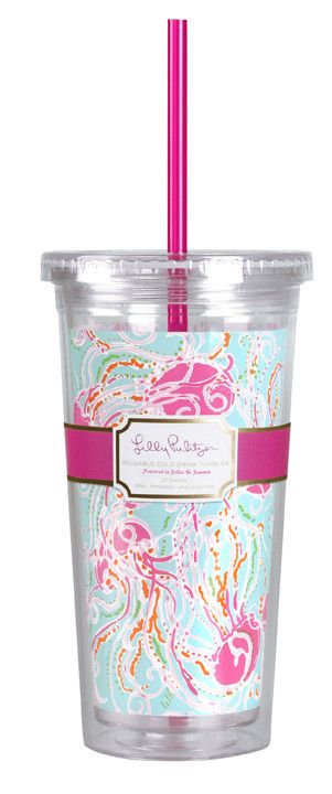 Lilly Pulitzer Tumbler with Straw- Jellies Be Jammin' #lilly-pulitzer