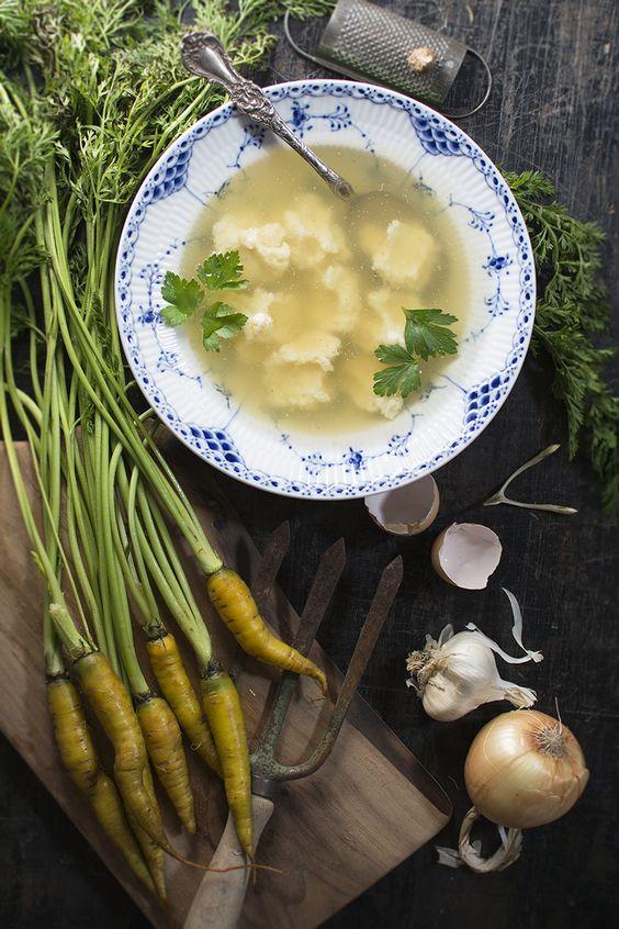 """Parmesan Dumpling Soup (Chicken Broth) - Traditional Roman gnochetti en brodo  """"Following Breadcrumbs"""" #Italian"""
