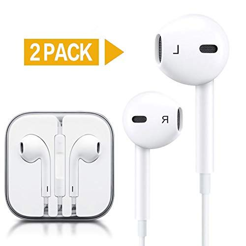 Generic 2 Pack Premium Earphones Earbuds Headphones With Stereo Mic Remote Control Compatible Iphone Ipad Ipod Sam Earbuds Apple Headphone Wireless Accessories