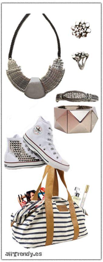 Los accesorios perfectos para completar un look con zapatillas converse #fashion #look #Moda en http://allTrendy.es