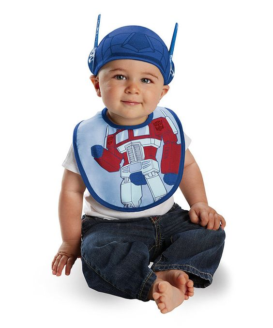 Take a look at this Blue Optimus Prime Bib & Hat on zulily today!