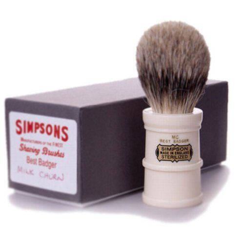 Simpson Shaving Brushes Milk Churn MC B Best Badger Handmade British Shaving Brush: Amazon.co.uk: Health & Personal Care