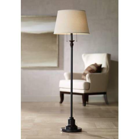 Spenser Oiled Bronze Traditional Floor Lamp 35e32 Lamps Plus