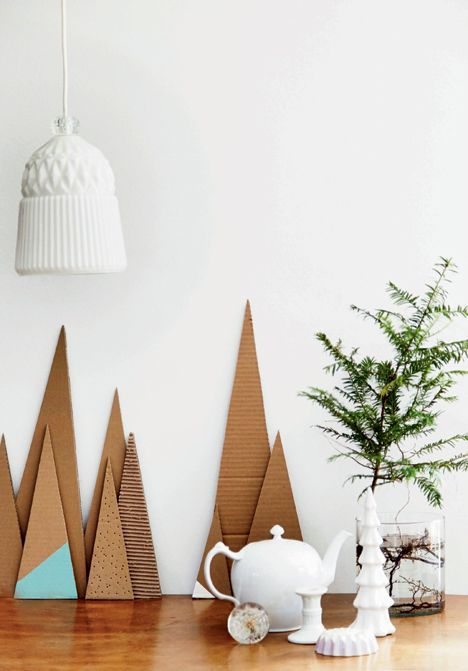 DIY: Cool Christmas decorations of cardboard - Boligliv: