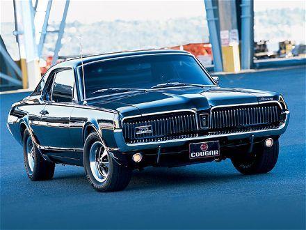 Black 1967 Mercury Cougar