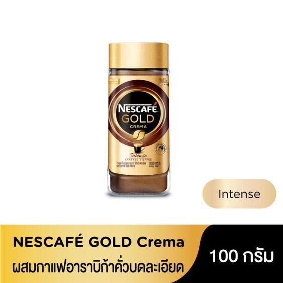 ร บด วน เนสกาแฟ โกลด เครมา Medium Dark Roast 100 กร ม ขวด ขวด