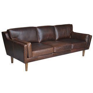 Beatnik Leather Sofa Columbus Chocolate By I Love Living