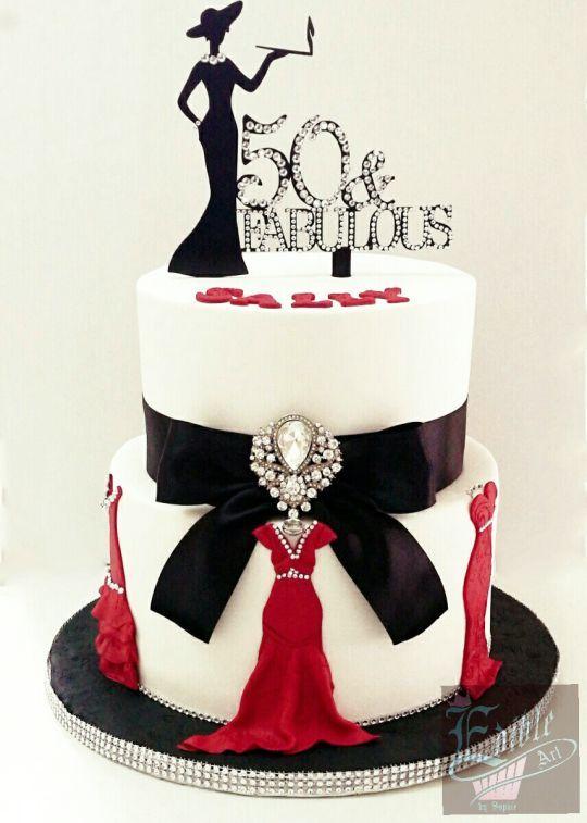 Tremendous Fabulous 50 Birthday Cake 50Th Cake 50Th Birthday Cake For Funny Birthday Cards Online Overcheapnameinfo
