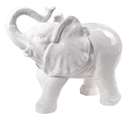 White Ceramic Elephant (for good fortune)