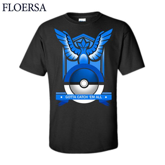 2016 Pokemon Go T-shirt Women/Men Tops 3D Priting Cotton Tee Shirt Men's T shirt Pokemon Tshirt Women Poleras De Mujer #ZQ12130