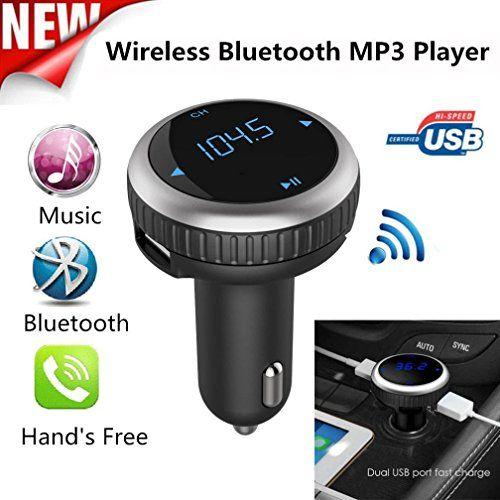 Bluetooth Car FM Transmitter Wireless Radio MP3 Music Player /& 2 USB Charger Kit