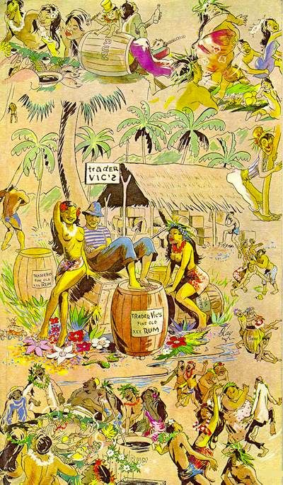 Trader Vic's -- Beautiful Vintage Menus From Classic L.A. Restaurants